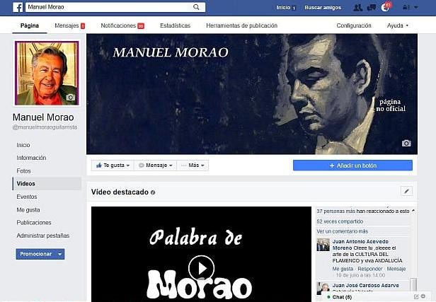 perfil de facebook de manuel morao