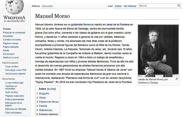 pagina de wikipedia sobre manuel morao